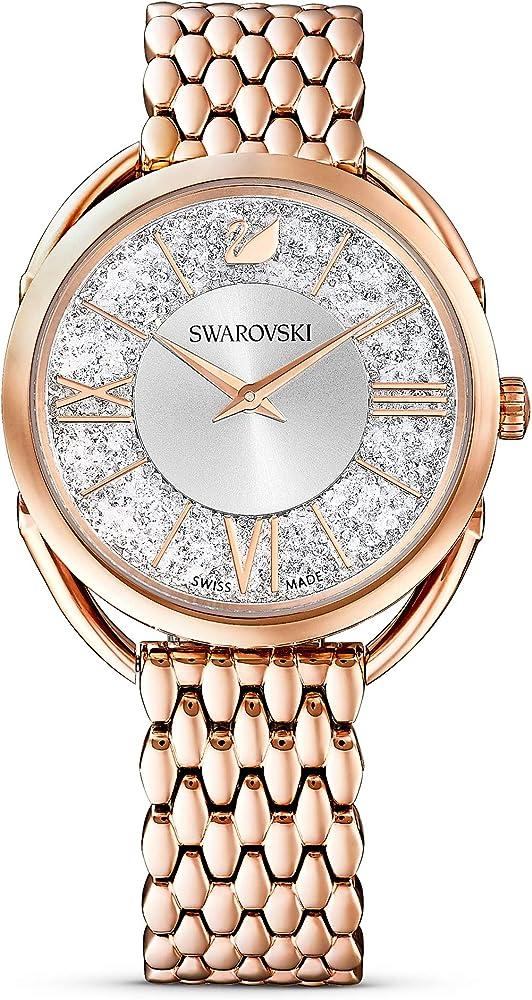 Swarovski crystalline glam orologio da donna tono oro rosa 5452465