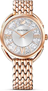Women's Women's Crystalline Glam Rose Gold Quartz Watch with Metal Strap, White