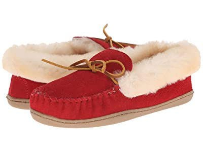 Minnetonka Alpine Sheepskin Moc (Red) Women