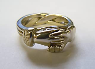 Men's 3 Band Claddagh Puzzle Ring
