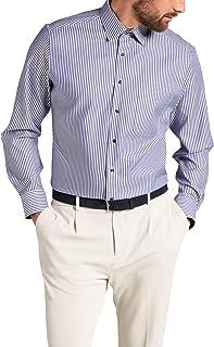 Eterna Long Sleeve Shirt Modern FIT Twill Striped