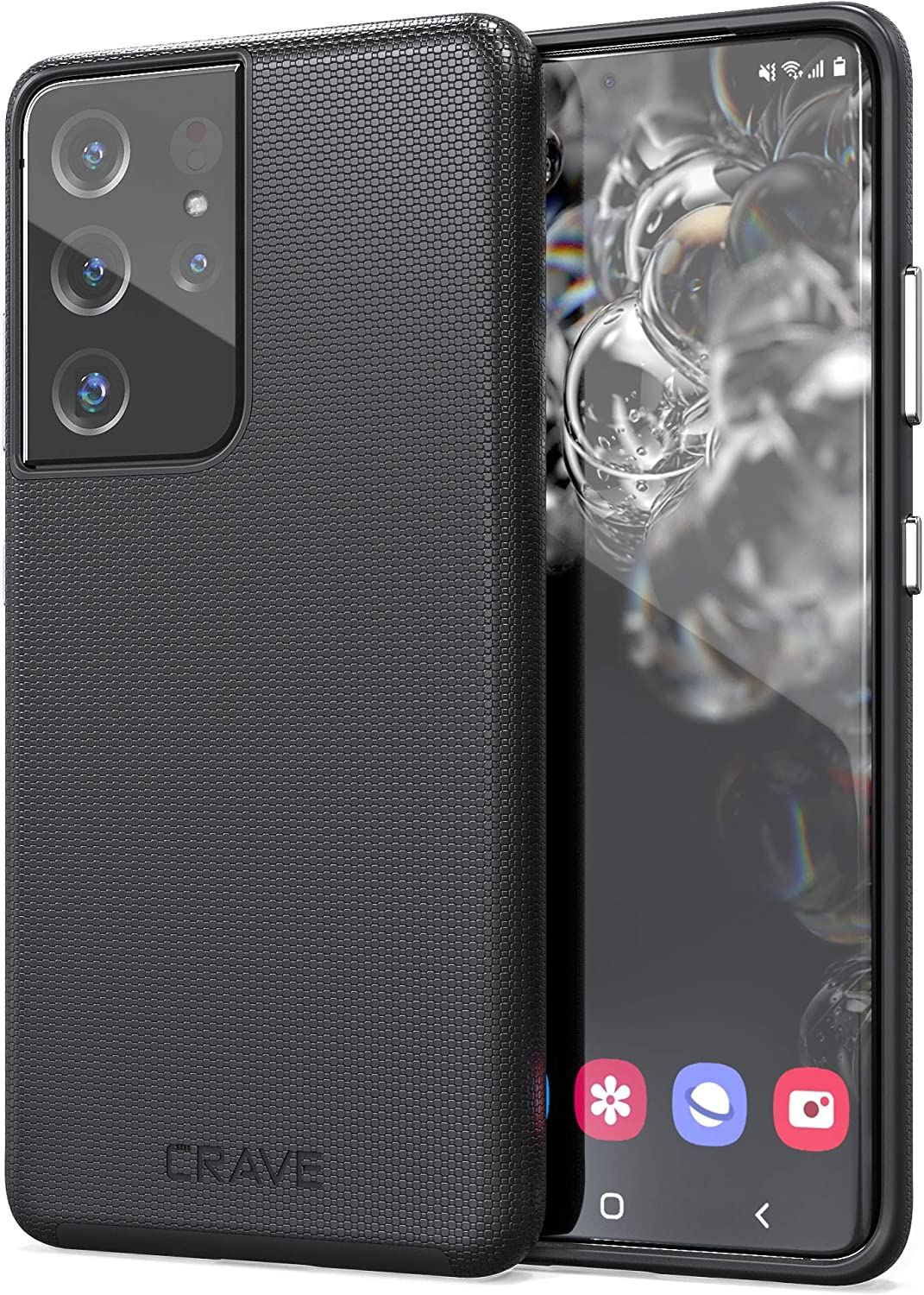 Crave Dual Guard for Galaxy S21 Ultra Case, Shockproof Protection Dual Layer Case for Samsung Galaxy S21 Ultra, S21 Ultra 5G (6.8 inch) - Black