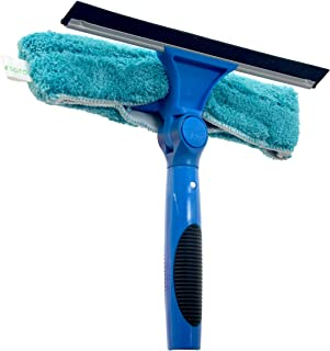 EVERSPROUT Swivel Squeegee and Microfiber Window Scrubber Combo | 2-in-1 Window & Glass Cleaning Tool | Adjustable to Clea...
