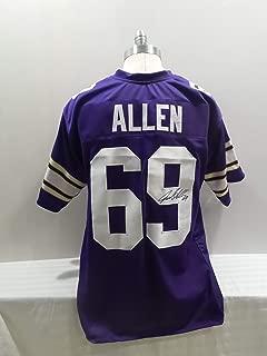 Jared Allen Signed Minnesota Vikings Purple Autographed Jersey Novelty Custom Jersey