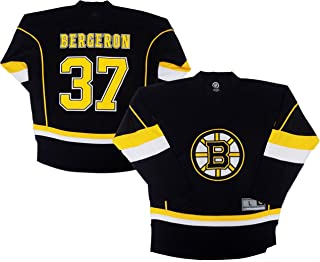 Outerstuff Patrice Bergeron Boston Bruins Black Men's 1 Stripe Team Apparel Jersey