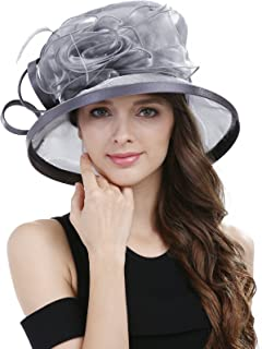 Janey&Rubbins Women Kentucky Derby Horse Race Fascinator Church Fancy Party Top Hat S043