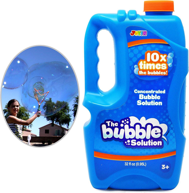 JOYIN 32 oz Bubble Solution Refills (up to 2.5 Gallon) BIG Bubbl