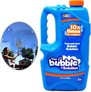 Joyin Toy Bubble Solution Refill (up to 2.5 Gallon) BIG Bubble Solution 32 Ounce CONCENTRATED Solution for Bubble Machine.
