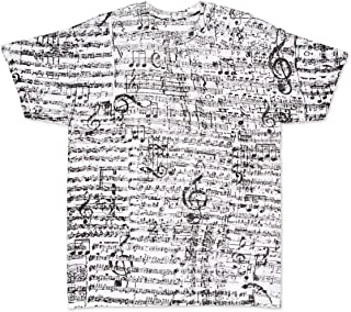 Music Notes T Shirt Musical Score Adult All Over Men Women Teacher Gift