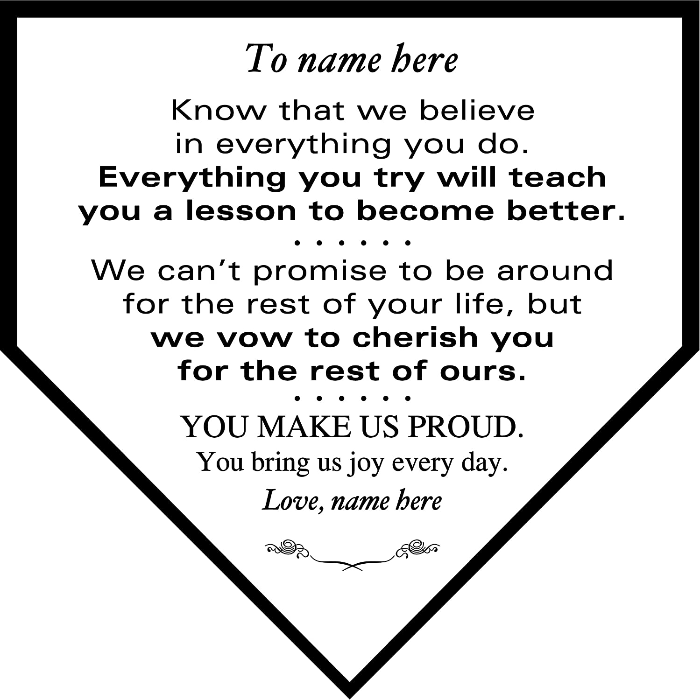 Personalized Custom Baseball Softball Home Plaque to Dad Plate shop - 5 ☆ very popular