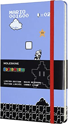 """Moleskine Limited Edition Super Mario Notebook, Hard Cover, Large (5"""" x 8.25"""") Ruled/Lined"""