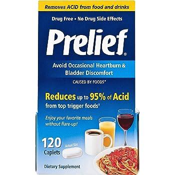 Prelief Acid Reducer Caplets 120 Count Dietary Supplement
