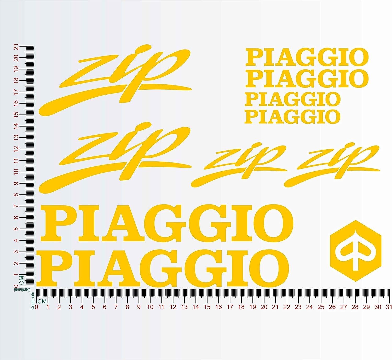 035 Orange Aufkleber-Kit kompatibel mit Piaggio Zip Motorrad Decal Farbe Nr 1308