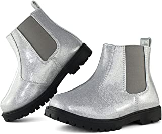 Tobfis Girl's Fashion Glitter Chelsea Boot Ankle Boots(Toddler/Little Kid/Big Kid)