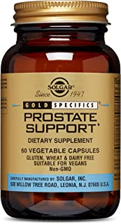 Solgar Prostate Support, 60 Vegetable Capsules - Men's Health - Prostate & Bladder Support - With Saw Palmetto, Pumpkin Se...