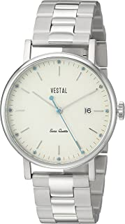 Vestal 'Sophisticate 36 Metal' Swiss Quartz Stainless Steel Dress Watch, Color Silver-Toned (Model: SP36M03.3SVX)