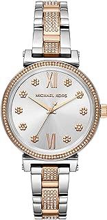 michael kors Women 's' Sofie 'acero inoxidable de cuarzo reloj Casual, color: plateado (modelo: mk3880)