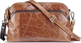 Lecxci Small Women's Soft Vintage Leather Crossbody Travel Smartphone Bag Wristlets Clutch Wallet Purse …