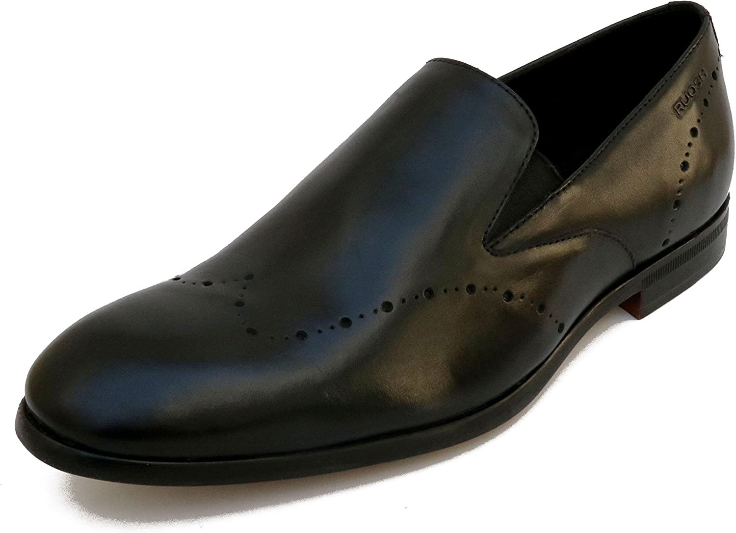 Ruosh Men's Black Loafers-11 UK India (45 EU)(AW17-MEXICO-02 B)