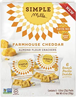 Simple Mills, Snack Pack Farmhouse Cheddar 6 Count, 4.8 Ounce