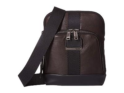 Tumi Alpha Bravo Barksdale Crossbody (Dark Brown) Cross Body Handbags