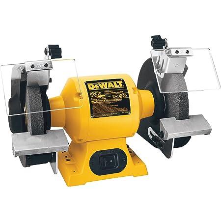 DEWALT Bench Grinder, 8-Inch (DW758), Yellow, Black, Gray