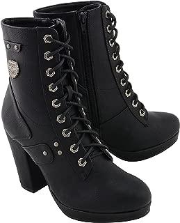 Milwaukee Performance Women's Lace to Toe Platform Boot (Black, 8)