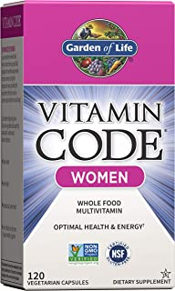 Garden of Life Multivitamin for Women, Vitamin Code Women's Multi - 120 Capsules, Whole Food Womens Multi, Vitamins, Iron,...