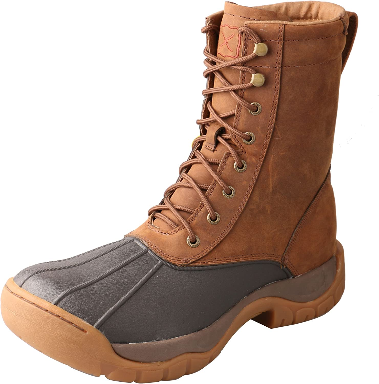 Twisted X Men's 8  Lace-Up Rubber Boot Round Toe