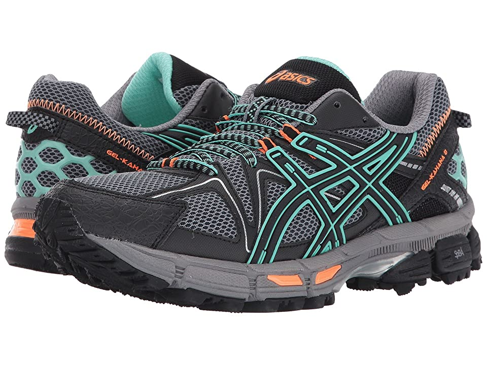 ASICS Gel-Kahana(r) 8 (Black/Ice Green/Hot Orange) Women