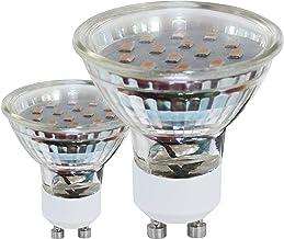 EGLO LED GU10 lamp set van 2, 2 LED spots, spots LED set, elk 3 watt (komt overeen met 23 watt), 240 lumen, GU10 LED warmw...