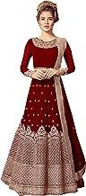 Delisa Indian/Pakistani Indian Wear & Ethnic Wear Anarkali Salwar Suit Anarkali Gown for Women Violate 5801