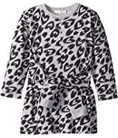 Stella McCartney Kids - Cloud Tie Front Long Sleeve Heart Cheetah Sweater Dress (Toddler/Little Kids/Big Kids)