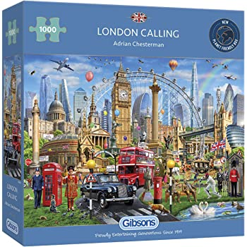 UK London Landmarks 1000 Piece Gibsons Jigsaw England G7066 Famous Cities