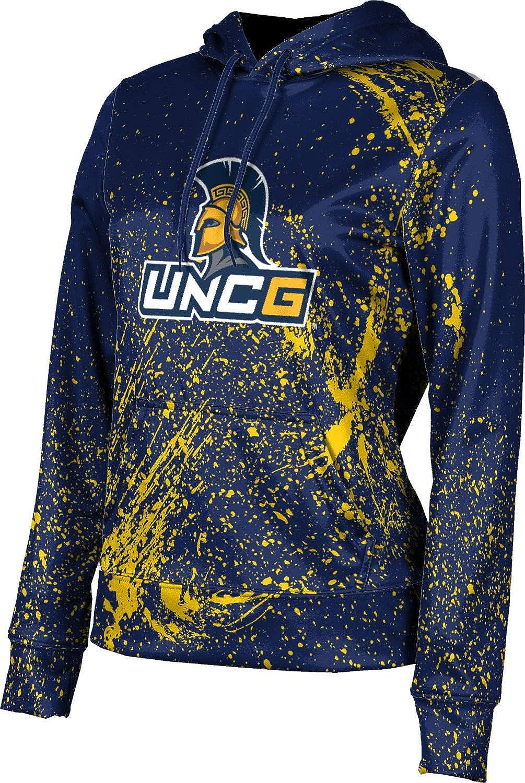 University of North Carolina at Greensboro Girls' Pullover Hoodie, School Spirit Sweatshirt (Splatter)