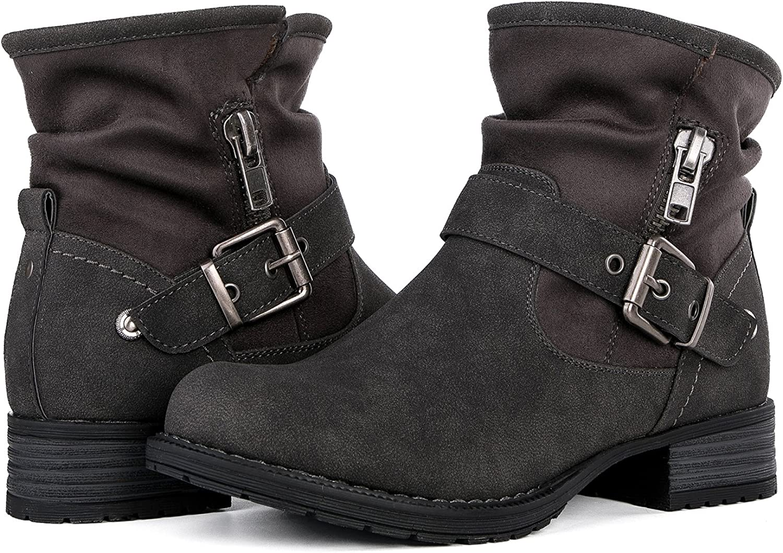 GLOBALWIN Women's Grey Winter Fasion Boots 10M