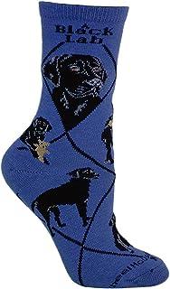 Wheel House Designs, Labrador negro calcetines diseño de perro en color azul