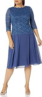 Women's Sequin Lace Mock Dress (Petite and Regular)