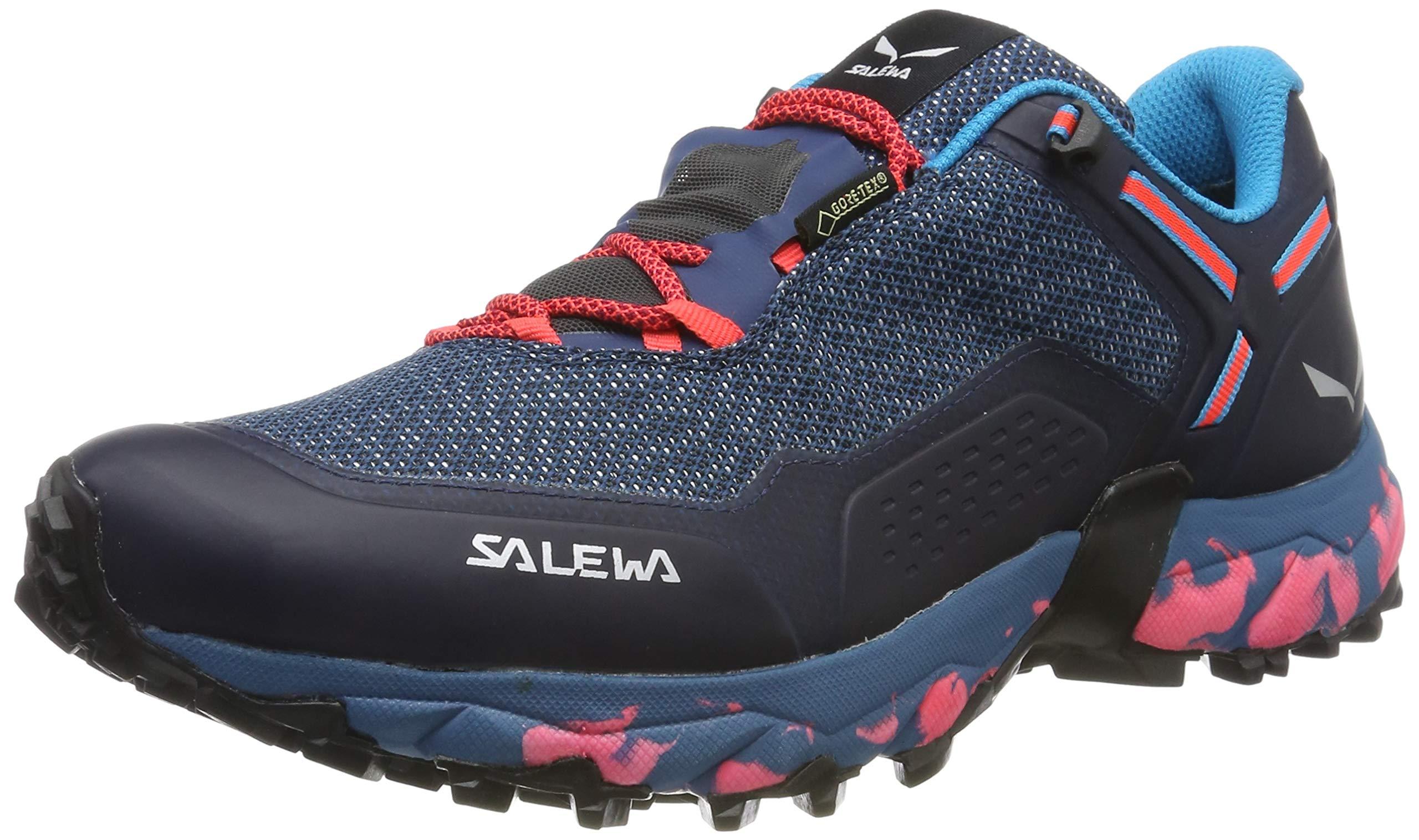 Salewa Damen WS Speed Beat Gore-TEX Traillaufschuhe, Patriot Blue/Fluo Coral, 37