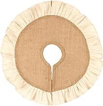 Burlap/Cream Ruffle Tree Skirt (16