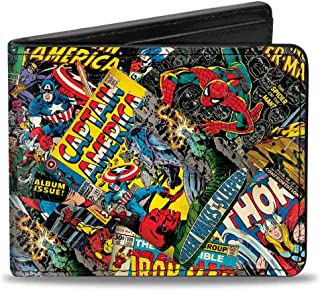 Buckle-Down Marvel Comics Wallet Retro Marvel Comic Books Stacked Accessory