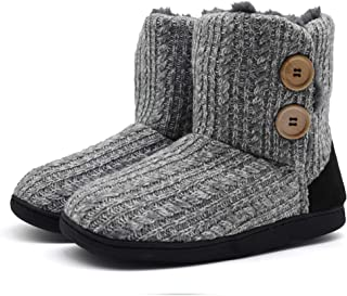Fluffy Faux Fur Slipper Boots Women Soft Cozy Memory Foam Midcalf Booties Indoor House Pull on Shoes