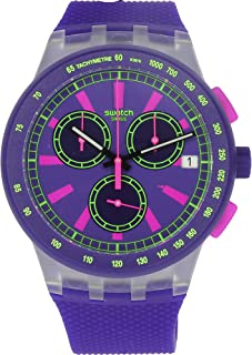 Swatch Purp-Lol SUSK400 Matte Purple Silicone Quartz Fashion Watch