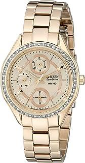 Citizen Watches Womens FD1063-57X Eco-Drive POV 2.0 Rose Gold Tone Swarovski Crystal Watch