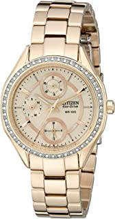 Citizen Watches Womens FD1063-57X Eco-Drive POV 2.0 Rose Gold Tone Swarovski Crystal Watch