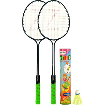 Klapp Zigma Badminton Set; Pack of Two Badminton Set with 10 Pcs Shuttlecock With Cover
