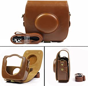 Cisixin Leather Case Bag for Fuji Fujifilm Instax Hybrid Camera with S...