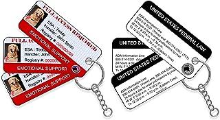 XpressID Emotional Support Dog ID Key Tags (Set of 3) | Includes Registration to National Dog Registry
