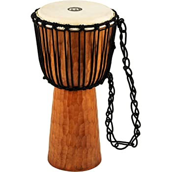 Meinl Percussion Djembe with Mahogany Wood-NOT Made in CHINA-10 Medium Size Rope Tuned Goat Skin Head, 2-Year Warranty, Brown, inch (HDJ4-M)
