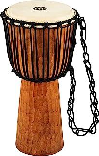 "Meinl Djembe with Mahogany Wood - NOT MADE IN CHINA - 10"" Medium Size Rope Tuned Goat Skin Head, 2-YEAR WARRANTY (HDJ4-M)"